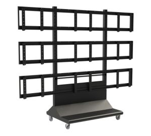 peerless 3x3 video wall trolley